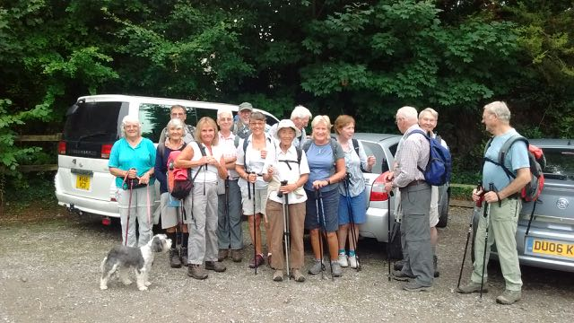 Start of Sussex Border Path Walk from Chalton