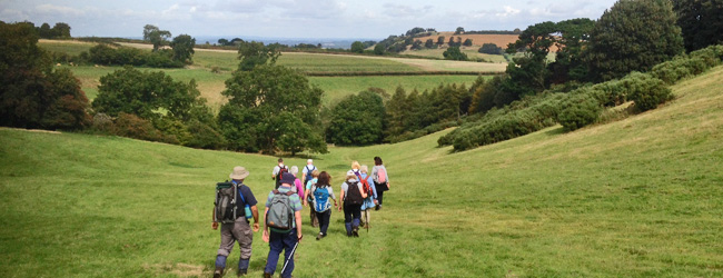 Coventry Ramblers walked towards Illmington